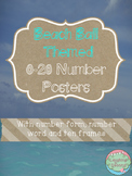 Beach Ball Themed 0-20 Numbers Posters