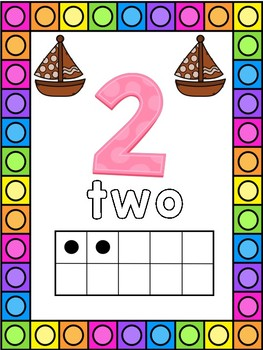 Sailboat Themed 0-20 Numbers Posters