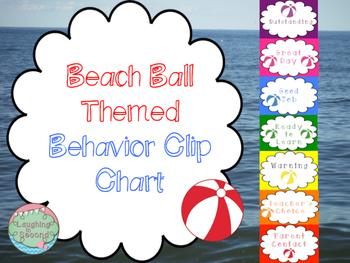 Beach Ball Themed Behavior Clip Chart