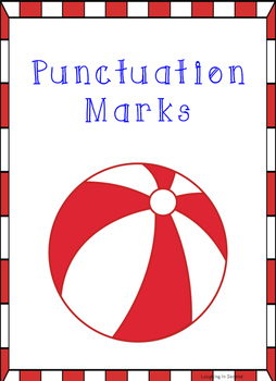 Beach Ball Themed - Punctuation Posters