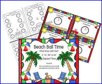 Beach Ball Time: Elapsed Time 5, 15, 30 and 60 Minutes