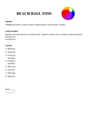 Math Centers: Beach Ball Toss