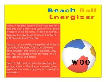 Choir or Singing Beach Ball Vocal Energizer