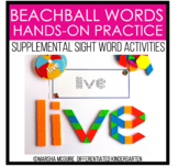Beach Ball Words - Sight Word Fine Motor Practice