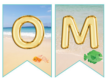 Beach Balloon Font Welcome Banner Classroom Decor