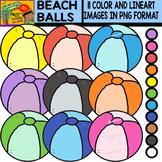 Beach Balls - Colorful Cliparts Set - 11 Items