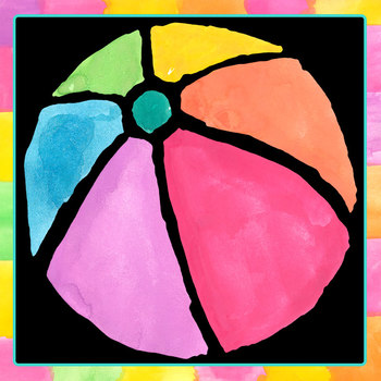 Beach Balls Handpainted Watercolor Clip Art Set Commercial use