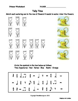 Summer Theme- Primer Level Music Theory Worksheet Pack