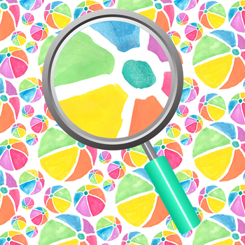 Beach Balls Summer Watercolor Handpainted Backgrounds / Digital Papers