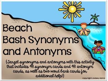 Beach Bash Synonyms and Antonyms