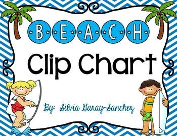 Beach Behavior Clip Chart