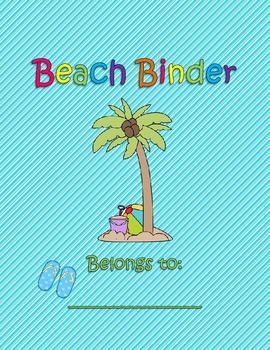 Beach Binder Cover