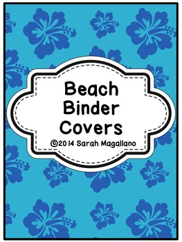 Binder Covers and Spines- Beach Theme
