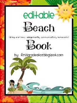 Beach Binder Editable
