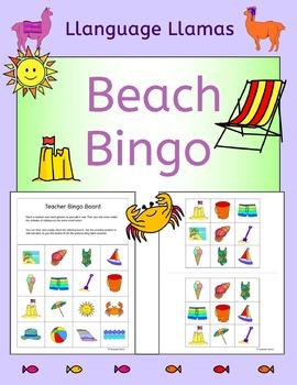 Summer Beach Bingo for EFL ESL EAL MFL
