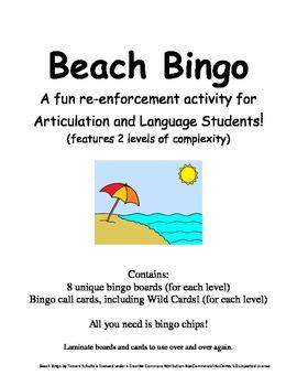 Beach Bingo!  A Speech and Language Re-enforcement and Enrichment Activity