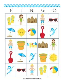 Beach Bingo Cards
