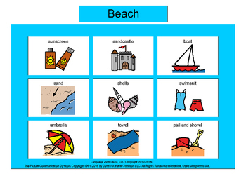 Beach Bingo! Multiple Boards [speech therapy and autism]