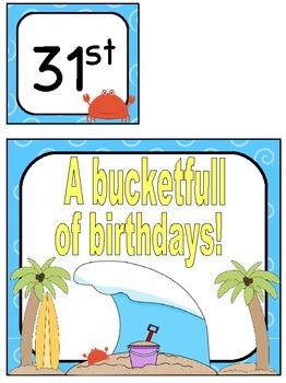 Beach Birthday Board Pack