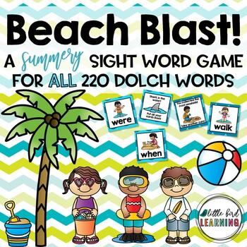 Beach Blast Sight Word Game - ALL 220 Dolch Words!