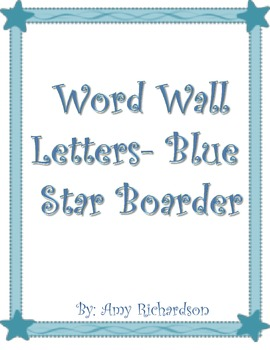 Beach Blue Star Word Wall Letters