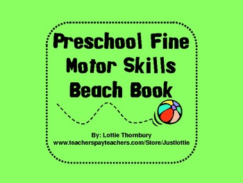 Beach Book for Preschool & Early Elementary Fine Motor Practice