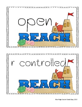 Beach Break Multi-Syllable Activities