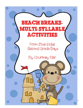 Beach Break Multi-Syllable Activities