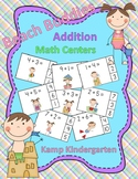 Beach Buddies Addition Math Centers Sums to 10