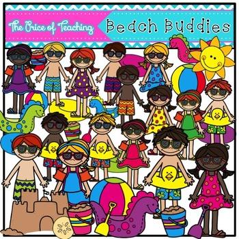 Beach Buddies Clipart Set