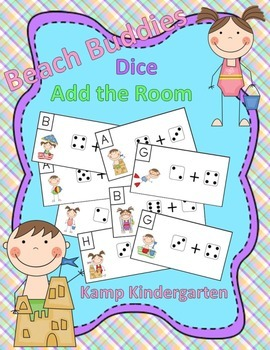 Beach Buddies Dice Add the Room (Sums to 10)