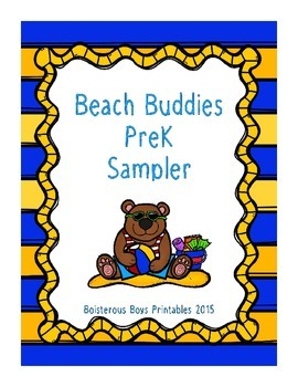 Beach Buddies PreK Printable Sampler Pack