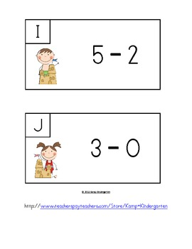 Beach Buddies Subtract the Room (Minuends to 10)