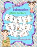 Beach Buddies Subtraction Math Centers Minuends to 10