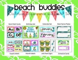 Beach Buddies (Tropical) Classroom Organization and Decor Set  (Editable)