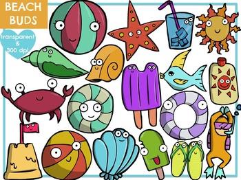 Beach Buds (Digital Clip Art)
