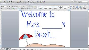 Beach Bulletin Board Title