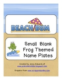 Beach Bum Frog Name Plates