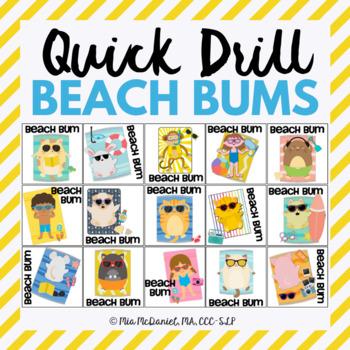 Beach Bum Quick Drill {for any skill drill}