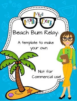 Beach Bum Relay template - Personal Use Only!