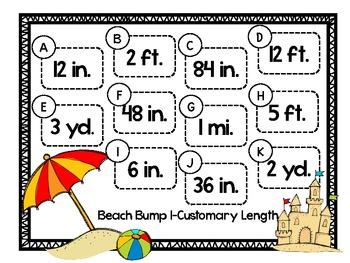 Beach Bump Bundle-Converting Units of Customary Measurement