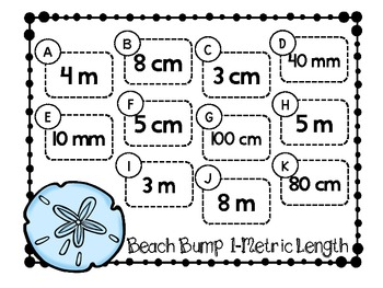 Beach Bump-Two Games for Converting Metric Units of Length