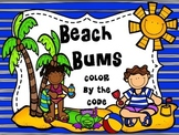 Addition and Subtraction Facts to 20 Beach Bums Color by the Code