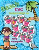 Beach CVC Sandpail Summer Match Up  Distance Learning