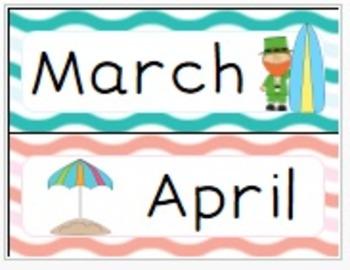 Beach Calendar Set