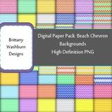 Beach Chevron Digital Paper