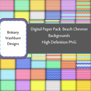 Beach Chevron Digital Paper