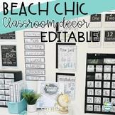 Beach and Shabby Chic Classroom Decor ~ Editable Classroom Decor