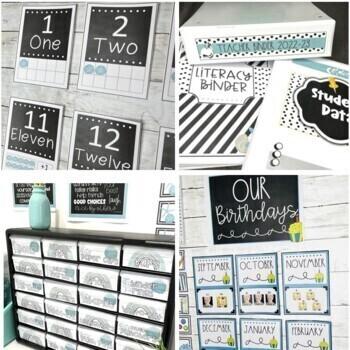 Classroom Decor Beach Theme and Shabby Chic ~ Editable Classroom Decor