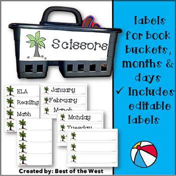 Beach Classroom Labels and Room Decor